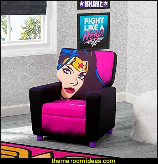 Children High Back Upholstered Chair DC Comics Wonder Woman