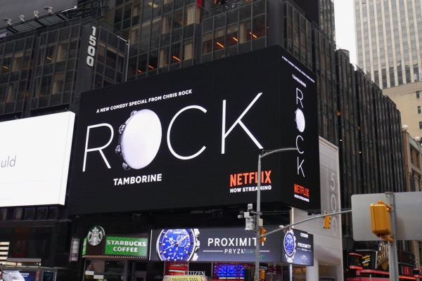 Chris Rock Tamborine Netflix billboard Times Square