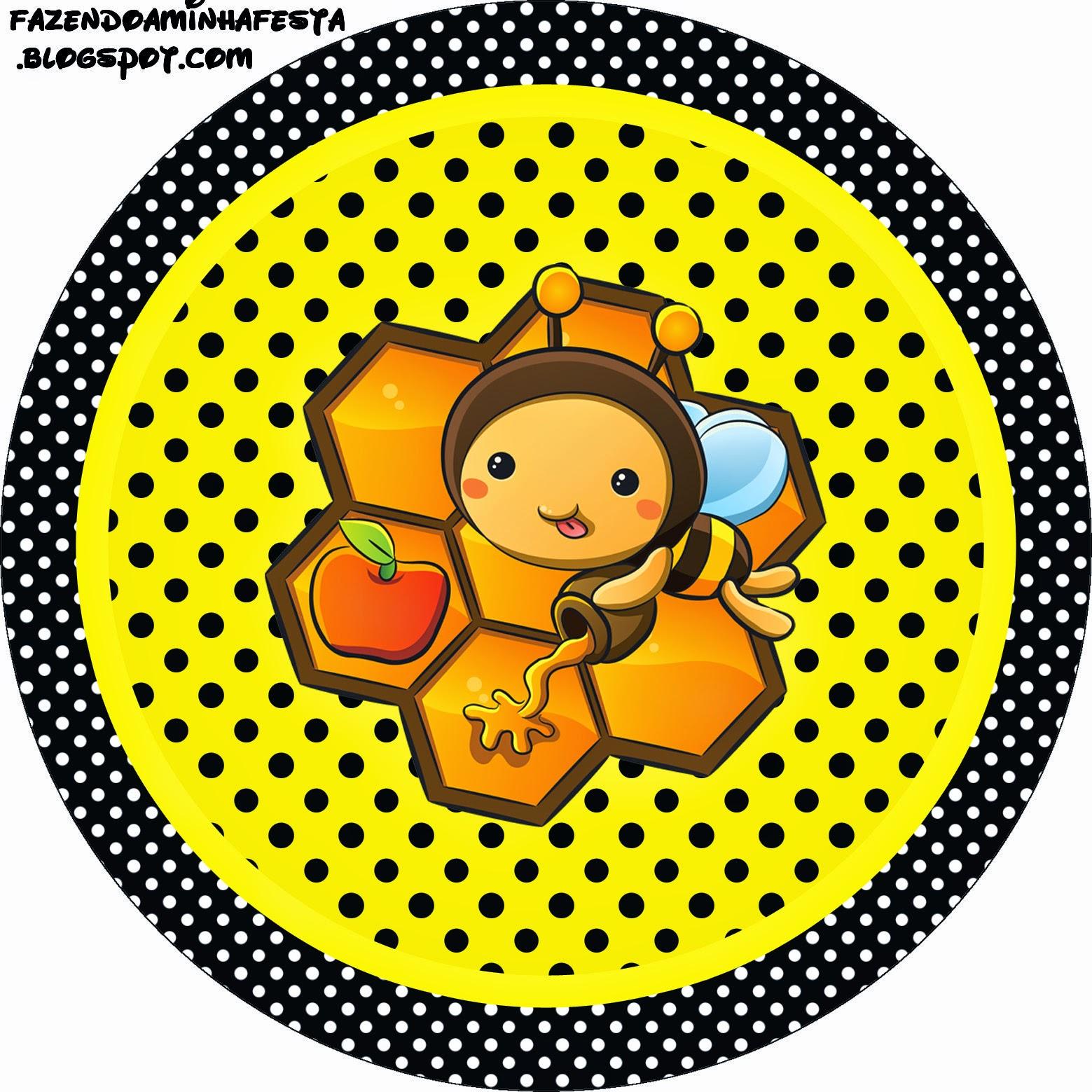 Toppers o Etiquetas de Abejitas Bebé para imprimir gratis.