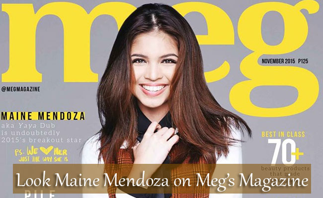 Look:Maine Mendoza on Meg's Magazine