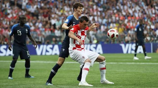 Mandzukic Cetak Gol Bunuh Diri, Prancis Unggul 1-0