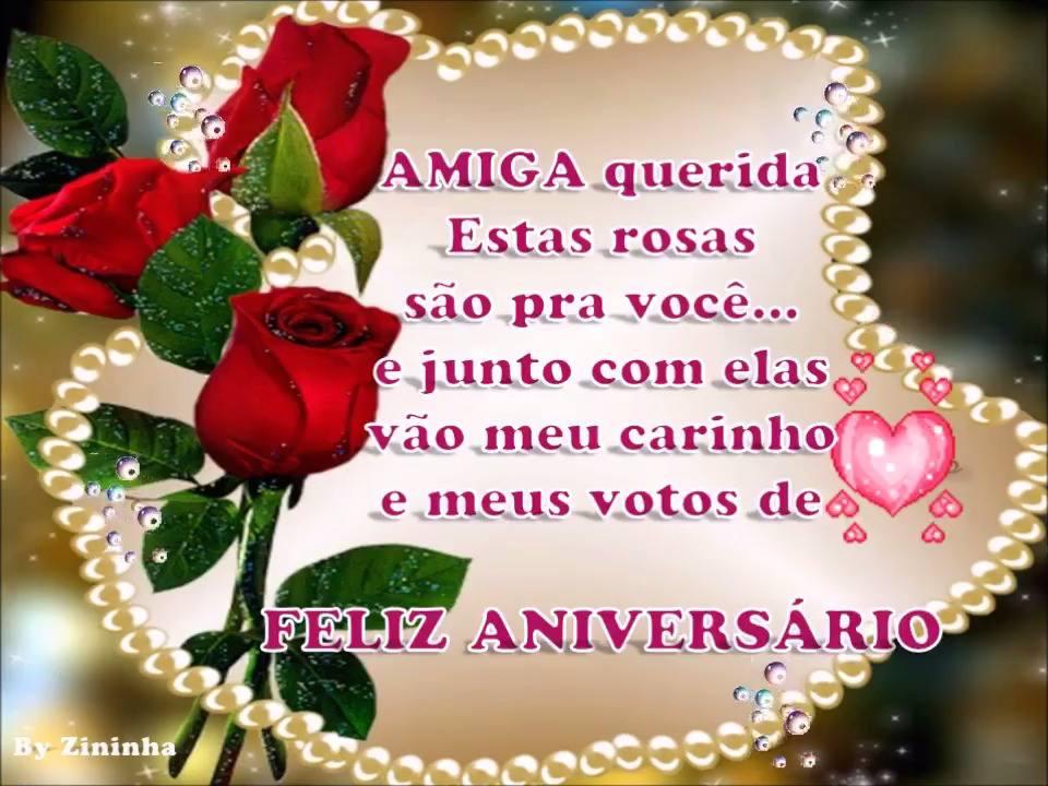 Mensagem Aniversario Amiga: Mensagem De Aniversario Para Amiga Com Flores Vermelhas