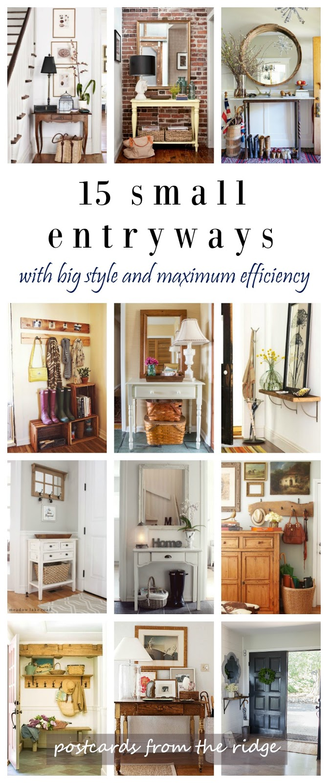 ideas for small entryways