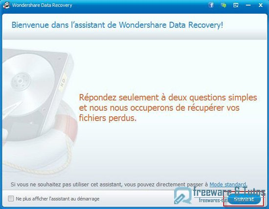 Offre promotionnelle : Wondershare Data Recovery gratuit !