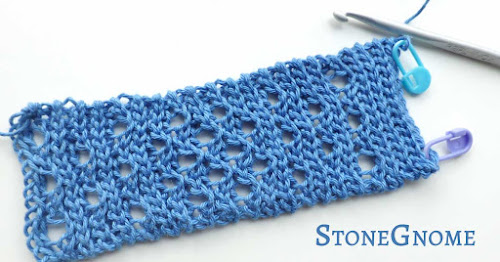 Crochet slip stitch pattern