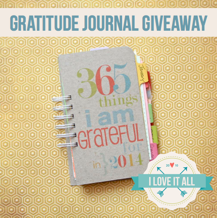 Gratitude Journal Giveaway | iloveitall.etsy.com