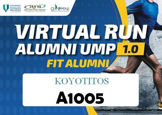 Hadiah Virtual Run UMP Alumni UMP Sudah Sampai