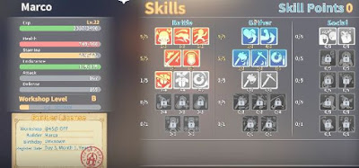 My Time At Portia, MTAP, Skill Points Guide