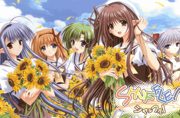 Shuffle! - Daftar Anime Fantasy School Terbaik