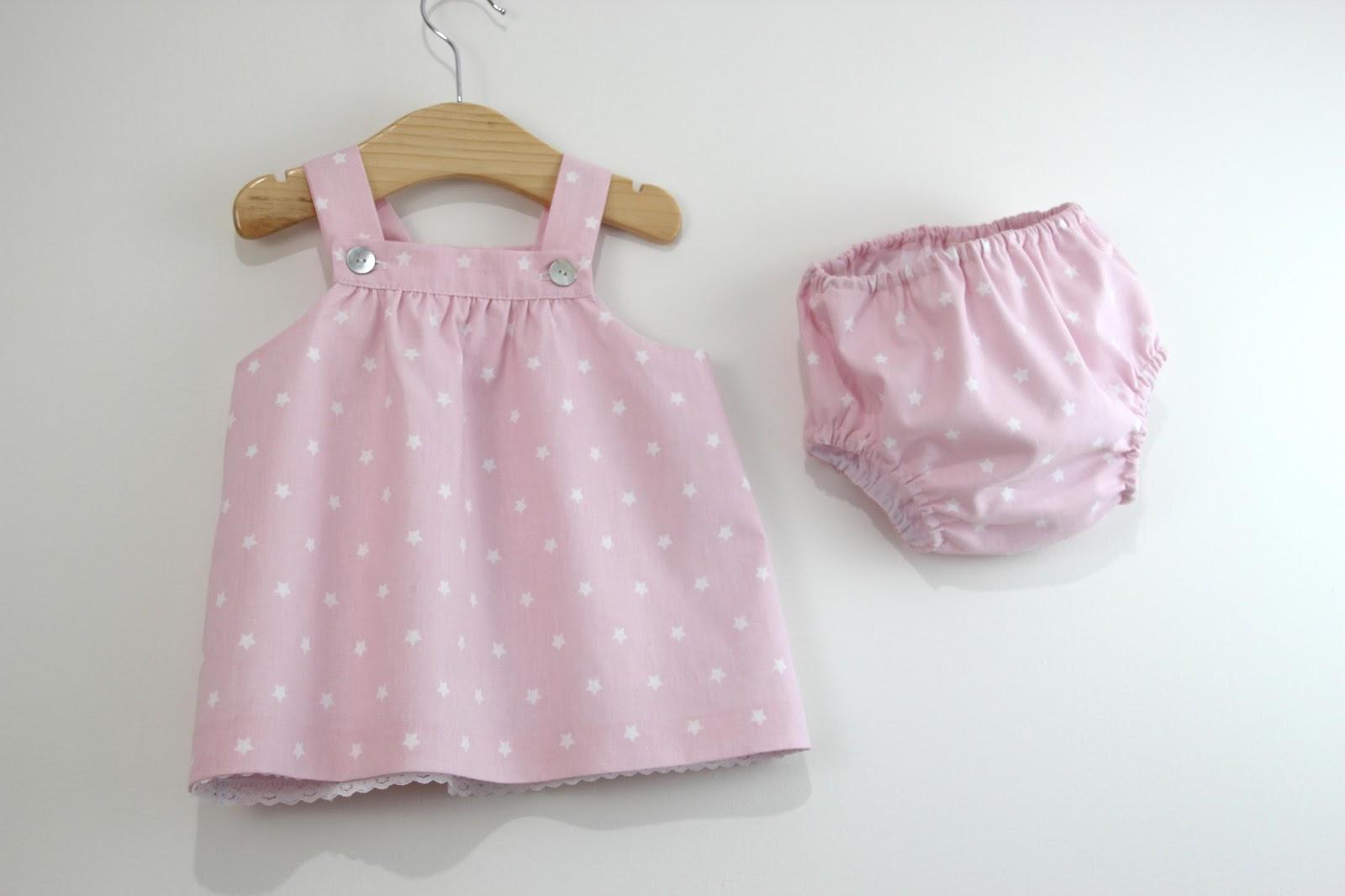 DIY Tutorial y patrones VESTIDO y BRAGUITAS para bebé - Handbox ...