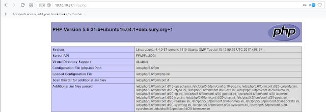 Gambar akses file php melalui browser