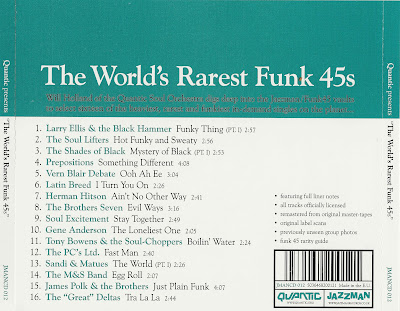 Quantic - The World's Rarest Funk 45s (Volume Two)