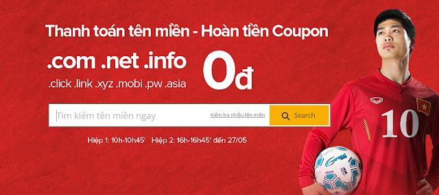 Z.com khuyến mãi tên miền giá 0đ