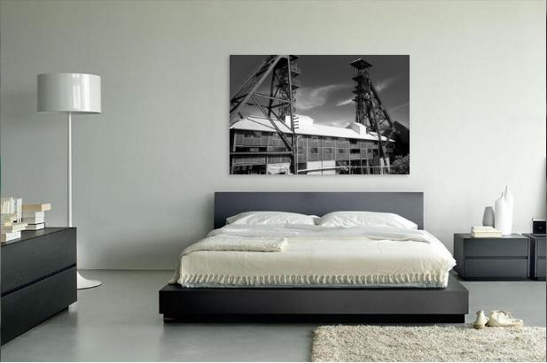 Slaapkamer Zwart Wit : Zwart wit slaapkamer u stockfoto photographee eu