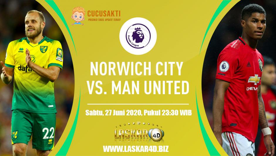 Prediksi Bola Norwich City vs Manchester United Sabtu 27 Juni 2020