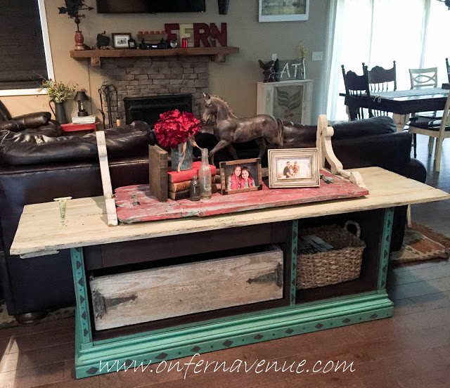 Sofa-table-with-reclaimed-barn-door