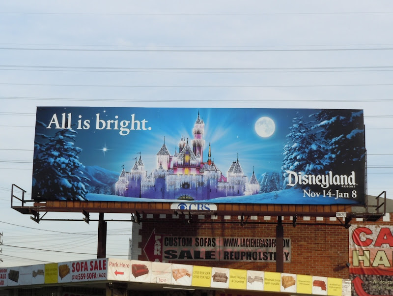 All is bright Disneyland billboard