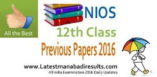 NIOS 12th Class Previous Question Papers 2015 2014 2013,  NIOS Class 12th XII Exam Model Papers Online, NIOS Senior Secondary Exam Question Papers in pdf