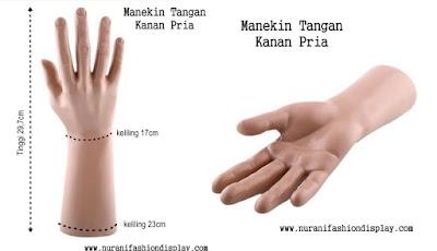 Patung Manekin Display Pajangan Tangan Pria
