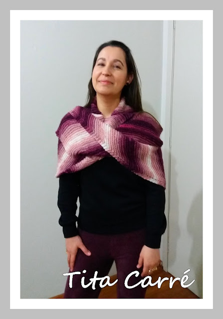 Xale Ametista em Tricot