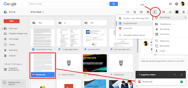 cara translate pdf bahasa inggris dengan google drive