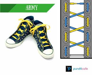 Cara Mengikat Tali Sepatu Army