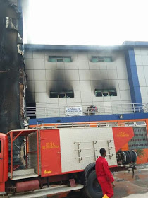 The Largest Shopping Mall In Edo,burnt to Ashes.