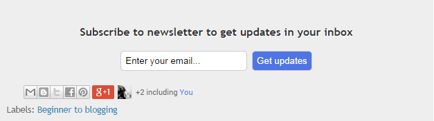 How to add E-mail subscription gadget in blogger and below every post