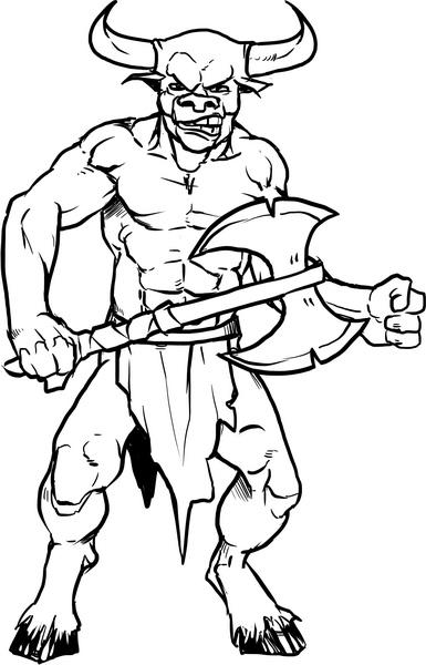 scary monster coloring pages | Hero Kids RPG: Hero Kids: Adventures