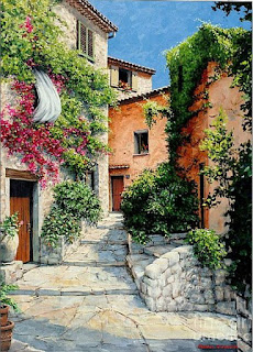 paisaje-colonial-pintura-estilo-mediterraneo
