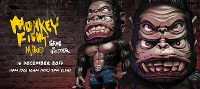 Mike the Monkey Vinyl Figure by Gang of Monster x Mighty Jaxx