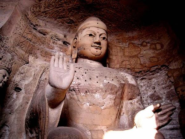 Cuevas budistas en Yungang, China