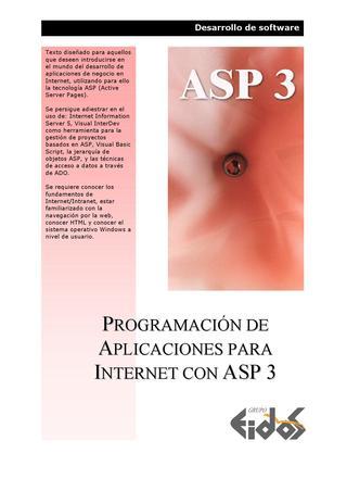 Programación de aplicaciones para Internet con ASP 3 – EIDOS
