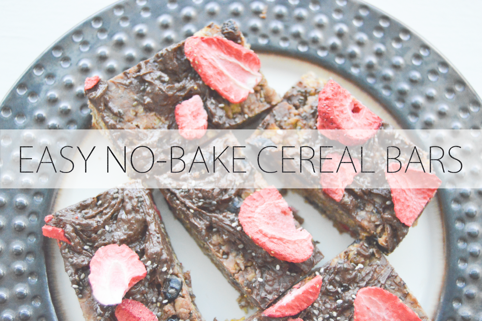 The joyful tribe easy no bake cereal bars if you wait long enough to make dinner everyone will just eat cereal or something like that cereal is one of those things i could never get ccuart Image collections