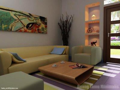 desain interior ruang tamu minimalis modern   model rumah