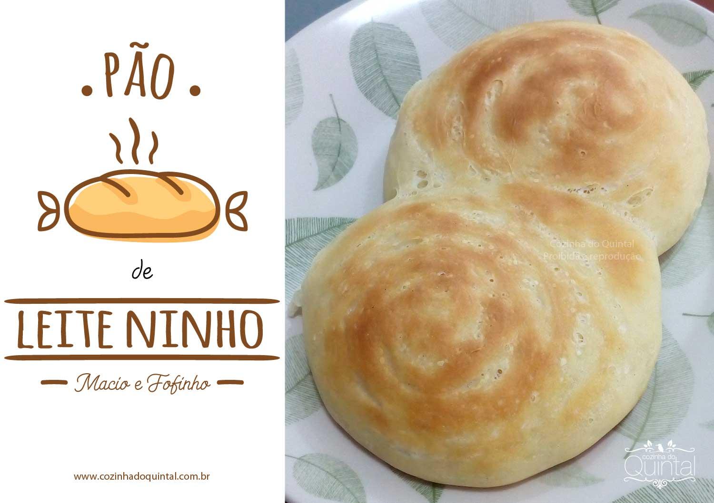 Pão de Leite Ninho: macio e fofinho, ótimo para vender! Na Cozinha do Quintal.
