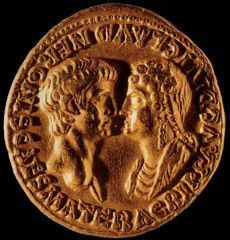 Áureo de Nerón y Agripina del tesoro de Boscoreale