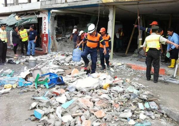 explosión en local comercial de Durán