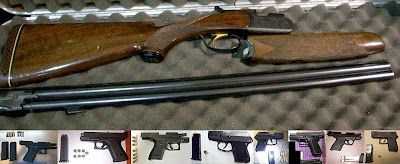 (Top to Bottom - Left to Right) Firearms Discovered at AUS, AUS, ATL, DTW, FLL, MAF, SMF, OKC, STL