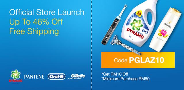 Official P&G Online Store Lazada Voucher Code Discount Promo