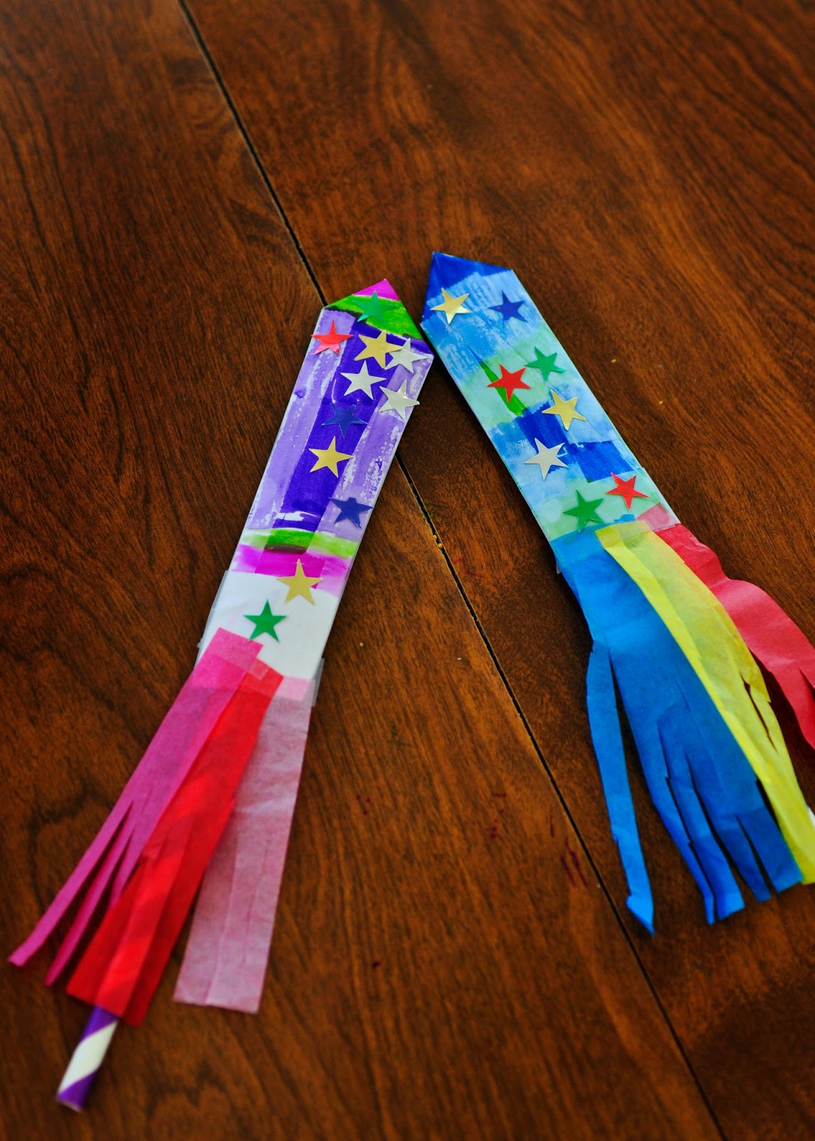 This Farm Family's Life: Craft Time: Paper Straw Rockets...