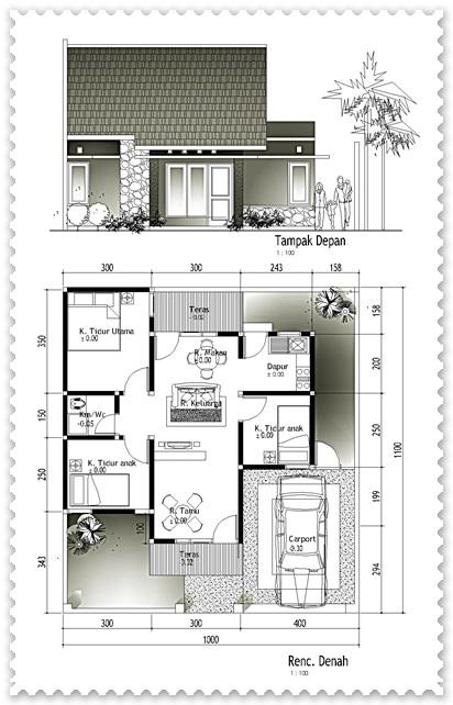 gambar sketsa rumah sederhana minimalis