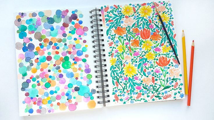 #3 In my sketchbook diaries series, where you get to take a peek at my recent sketchbook pages.