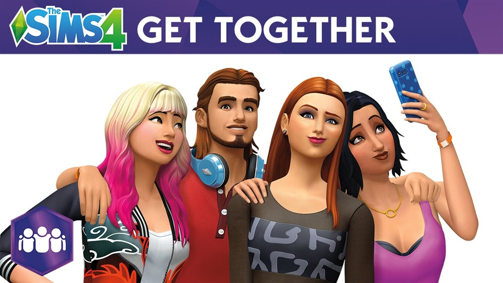 The Sims 4 Get Together Download Poster