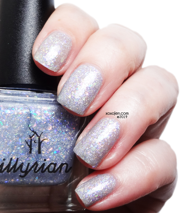 xoxoJen's swatch of Illyrian Polish Light As a Feather