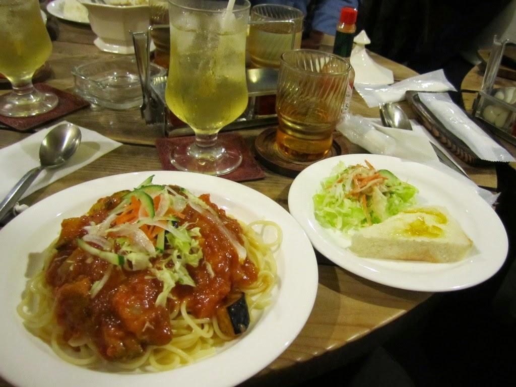 Chilled Tomato Sauce Spaghetti Set Gaucho Towada Cafe 冷静スパ トマトソース ガウチョ 十和田市 カフェ