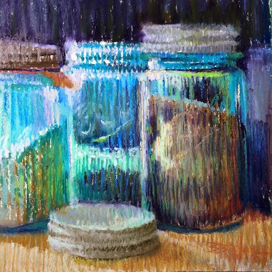 Mark-making &More Glass Jars, 9x8