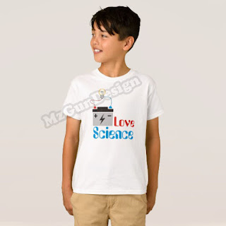 Love Science T-Shirt Design kids - MzGunDesign