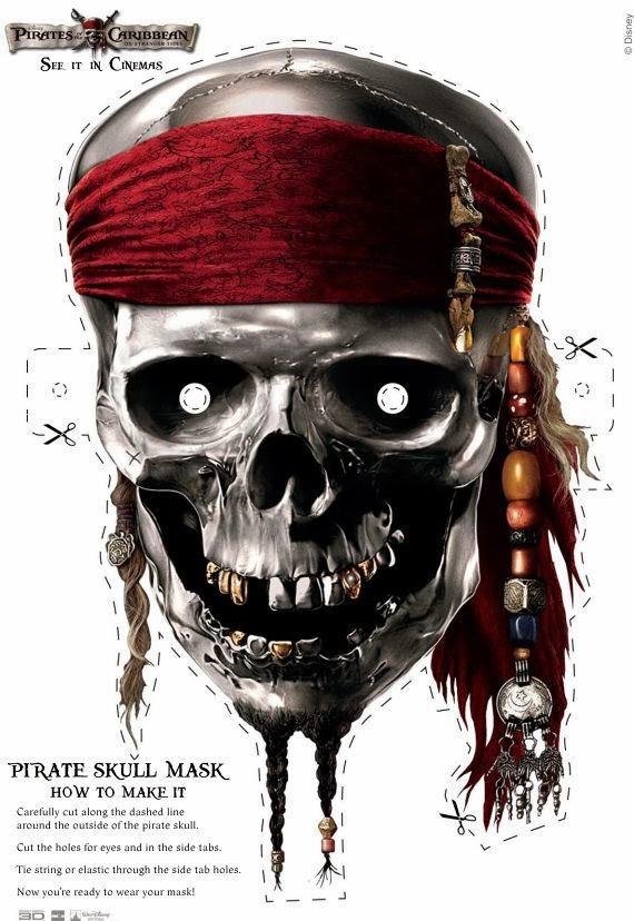 Mascara De Piratas Del Caribe Para Imprimir Gratis Ideas Y