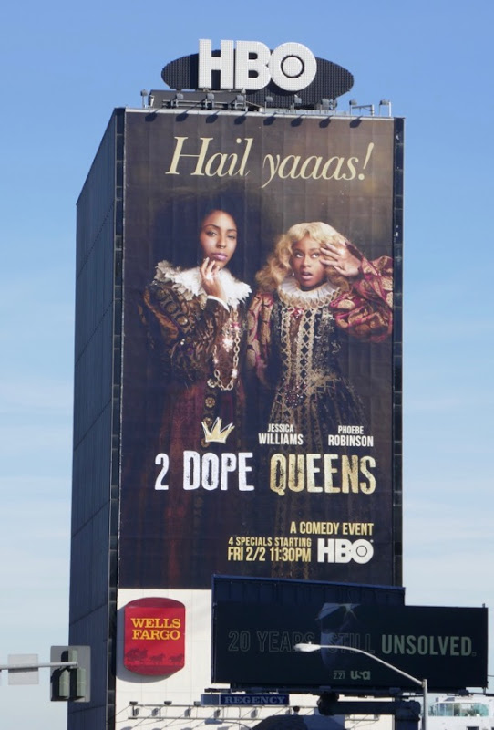 Giant 2 Dope Queens comedy special billboard